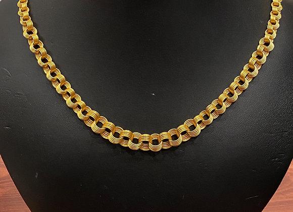 14K Rose Gold Russian 1960's Opera Length Chain
