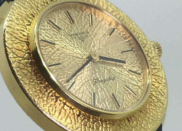 Unique Longines Flagship ref 8563 cal 528 18K Yellow Gold Case & Gold Dial Watch