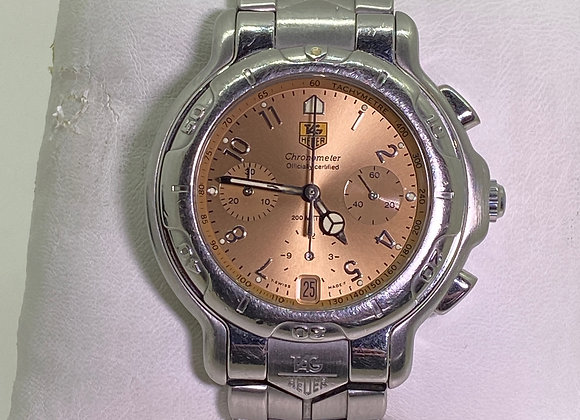 Fine & Rare Tag Heuer Chronometer 200m, Bronze Dial S/Steel Automatic Watch