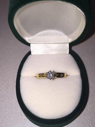 Diamond Engagement Ring in 18K Yellow Gold