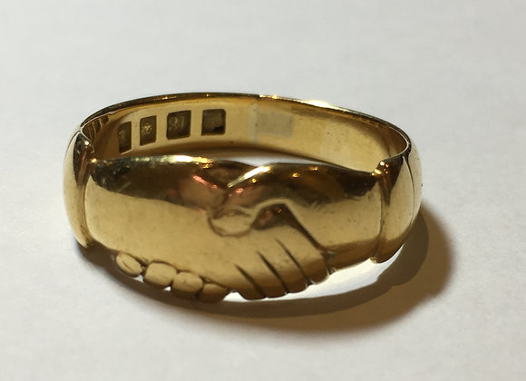 18K Yellow Gold Fede Ring (Clasped Hands)