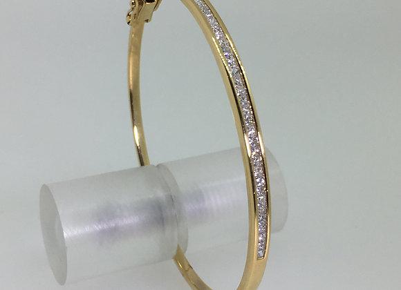 18K Yellow Gold & 1.50ct Diamond Bangle