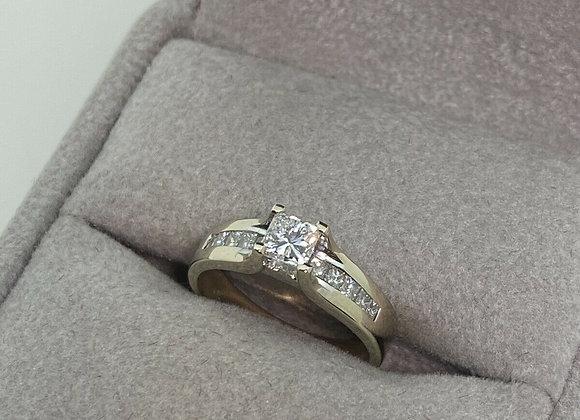 0.60ct Princess Cut Diamond (F/VS) Ring in 18K White Gold