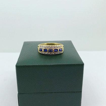Royal Blue Sapphire & Diamond Cocktail Ring