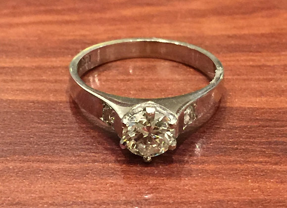 Solitaire Diamond of 0.65ct Engagement Ring