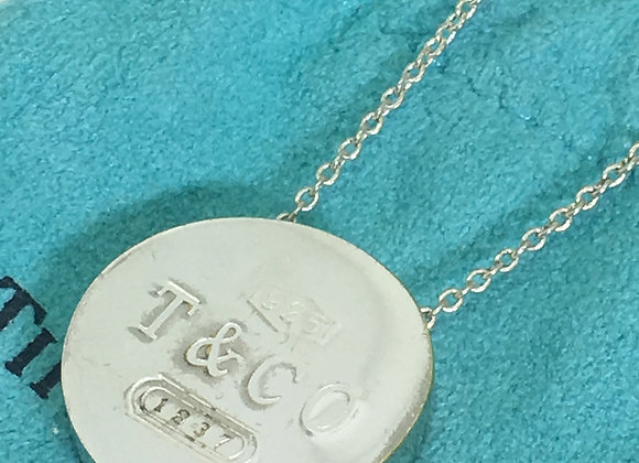 Tiffany & Co. Retired Round 1837 Circle Pendant Necklace