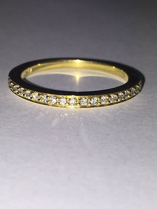 Half Eternity Gold & Diamond Ring