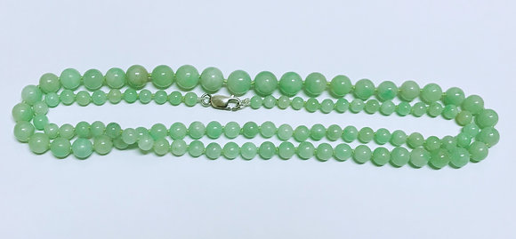 Opera Length Type A Green Jadeite Necklace