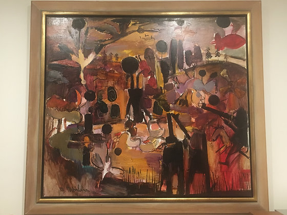 """Painting """"Figures and Animals"""" by Mark Tochilkin"""