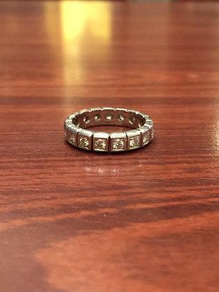 An Eternity Diamond Vintage Ring