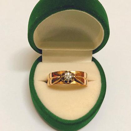 14K Rose Gold & Diamond Vintage Ring