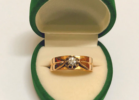 14K Rose Gold & Diamond Vintage Ring