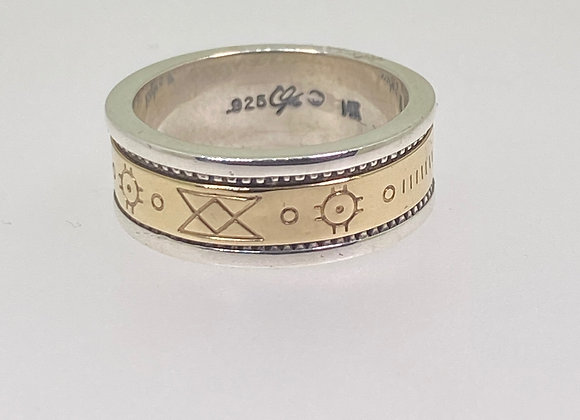 Gold & Silver Masonic Band/Ring