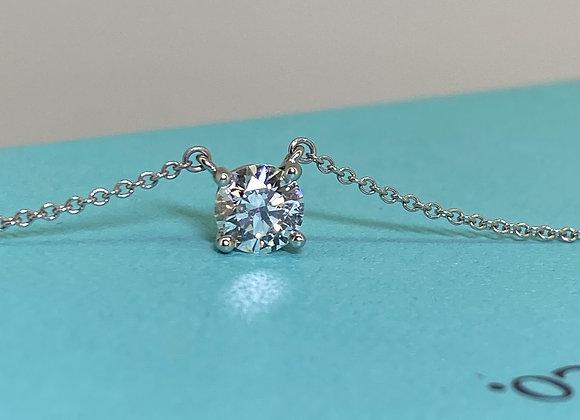 Tiffany & Co 0.78ct Diamond Pendant in Platinum 950