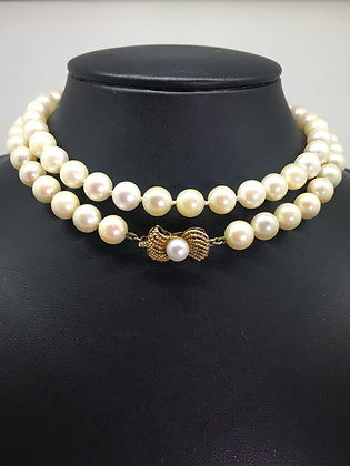 South Sea Pearl Necklace with 14K Yellow Gold Clasp