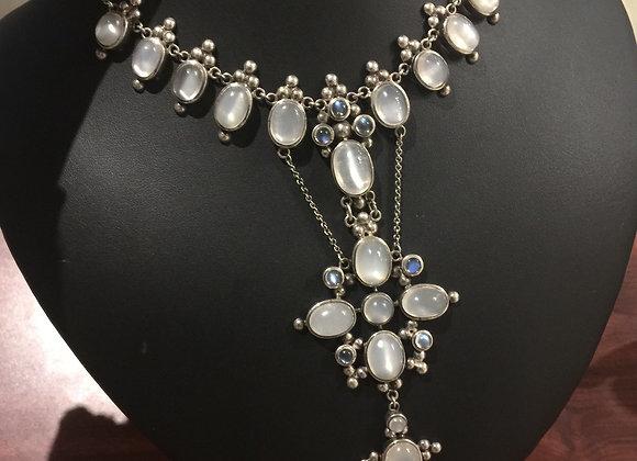 Vintage Silver Moonstone Necklace