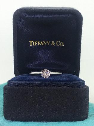 Tiffany & Co Platinum & 0.35ct Diamond Solitaire Ring