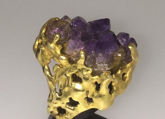 GRIMA Vintage Amethyst and Diamond Ring