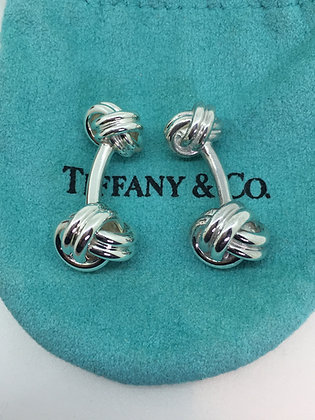 Tiffany & Co 925 Sterling Silver Double Knot Cufflinks
