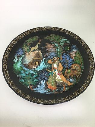 An Authentic Palekh Porcelain Decorative Plate