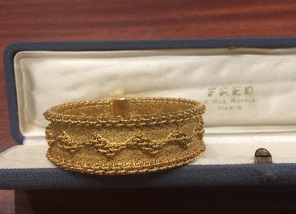 Fred of Paris 18K Yellow Gold Bracelet