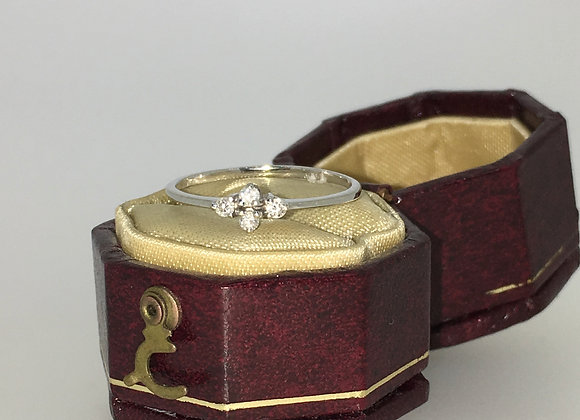 4-Stone Cluster Diamond Ring in 14K White Gold