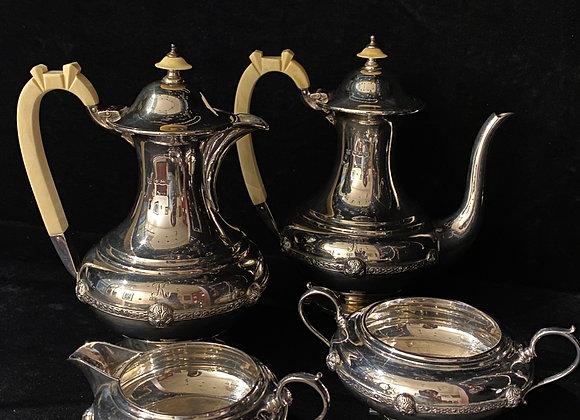 Sterling Silver Coffee & Tea Service, 1680gr. Sheffield, c1937