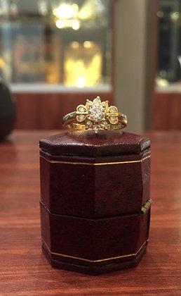 Flower Shaped 0.60ct Diamond Cluster Ring