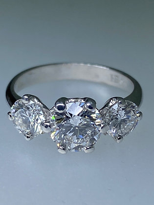 3-Stone 2.20ct Diamond Ring in 18K Gold by Hardy Brothers