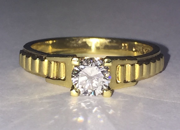 Solitaire 0.45ct Diamond Ring in 18K Yellow Gold