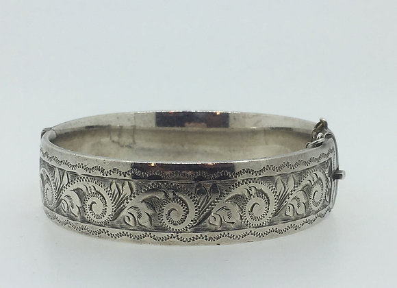 925 Sterling Silver English Vintage Bangle