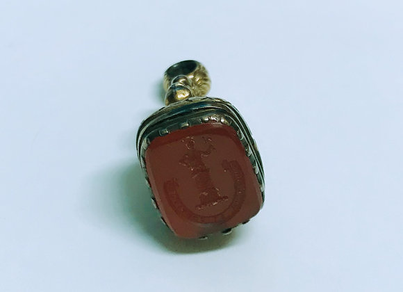 An Antique (Victorian) Carved Carnelian Intaglio Fob Seal