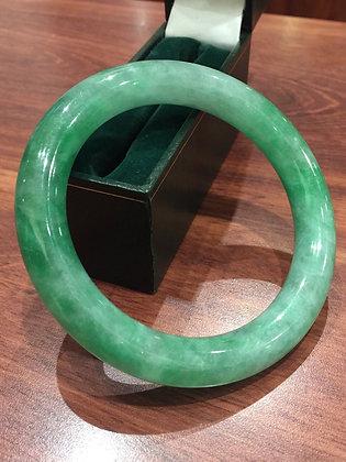 Type A Green Jadeite/Jade 12mm Bangle