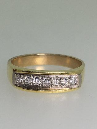 14K Yellow Gold 5mm 0.35ct Diamond Band