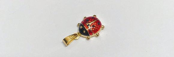 Gold & Red Enamel Ladybug Charm/Pendant