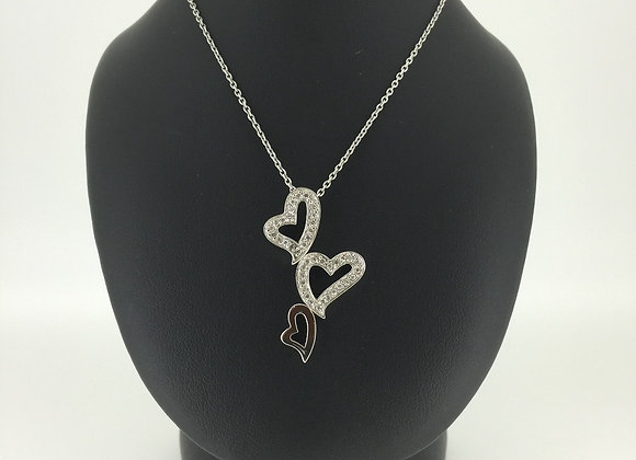 Sterling Silver Heart Shaped Pendant on a chain