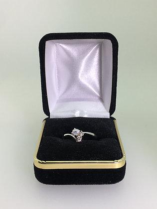 Retro Gold & 4-Stone Diamond Ring