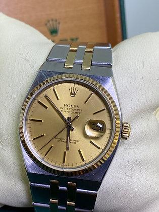 Rolex OysterQuartz DateJust ref 17013 T Swiss T Gold & Steel Watch