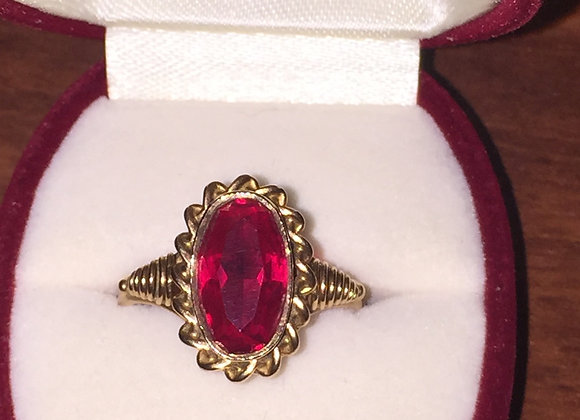 14K Rose Gold & Alexandrite Russian Vintage Ring
