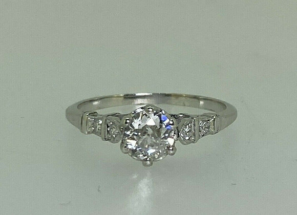 Fine 0.65ct Old-European Cut Diamond & Platinum Art-Deco 1930's Ring