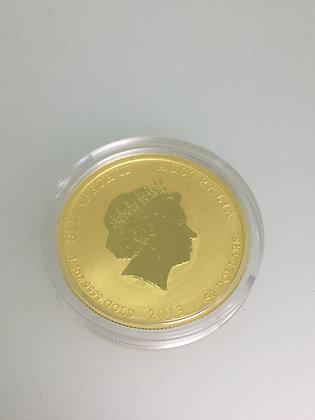 1/2 Oz 9999 Gold 50 Dollar Bullion Coin.