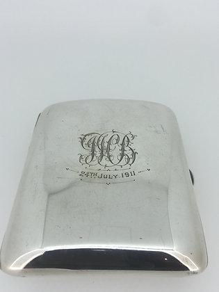 An Antique Sterling Silver Cigarette Case