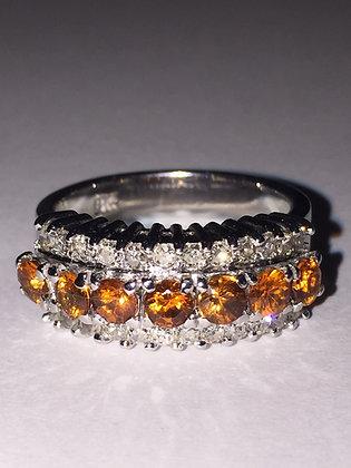 Golden Citrine & Diamond Dress Ring