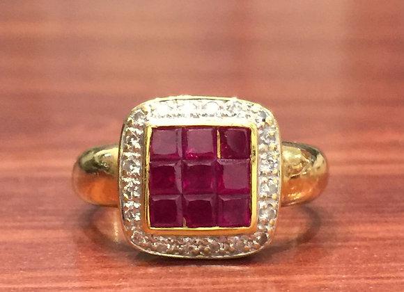 Retro Ruby & Diamond ring