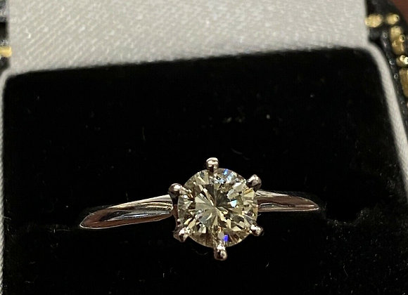 Tiffany Style 6-claw Solitaire 0.50ct Diamond Ring In Platinum