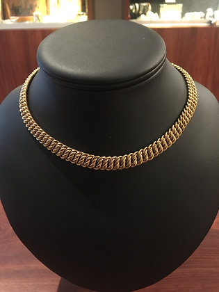 18K Rose Gold Italian Half Choker Necklace