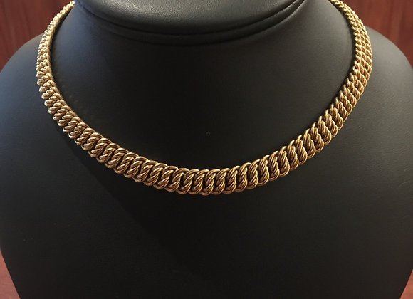 18K Rose Gold Italian Half Choker Necklace