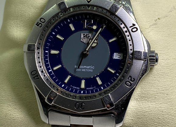 Tag Heuer Ref: WK2114 Automatic 200m Blue 2-Tone Dial 37mm Diver's Watch