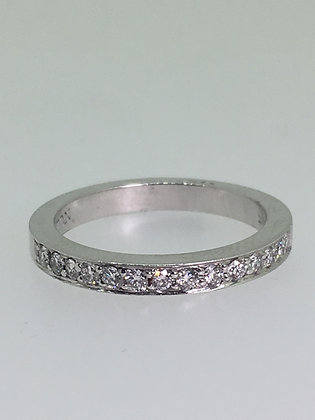 18K White Gold & Diamond Band by Anton Jewelers