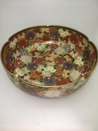 XIXc Japanese Satsuma Chrysanthemum Bowl